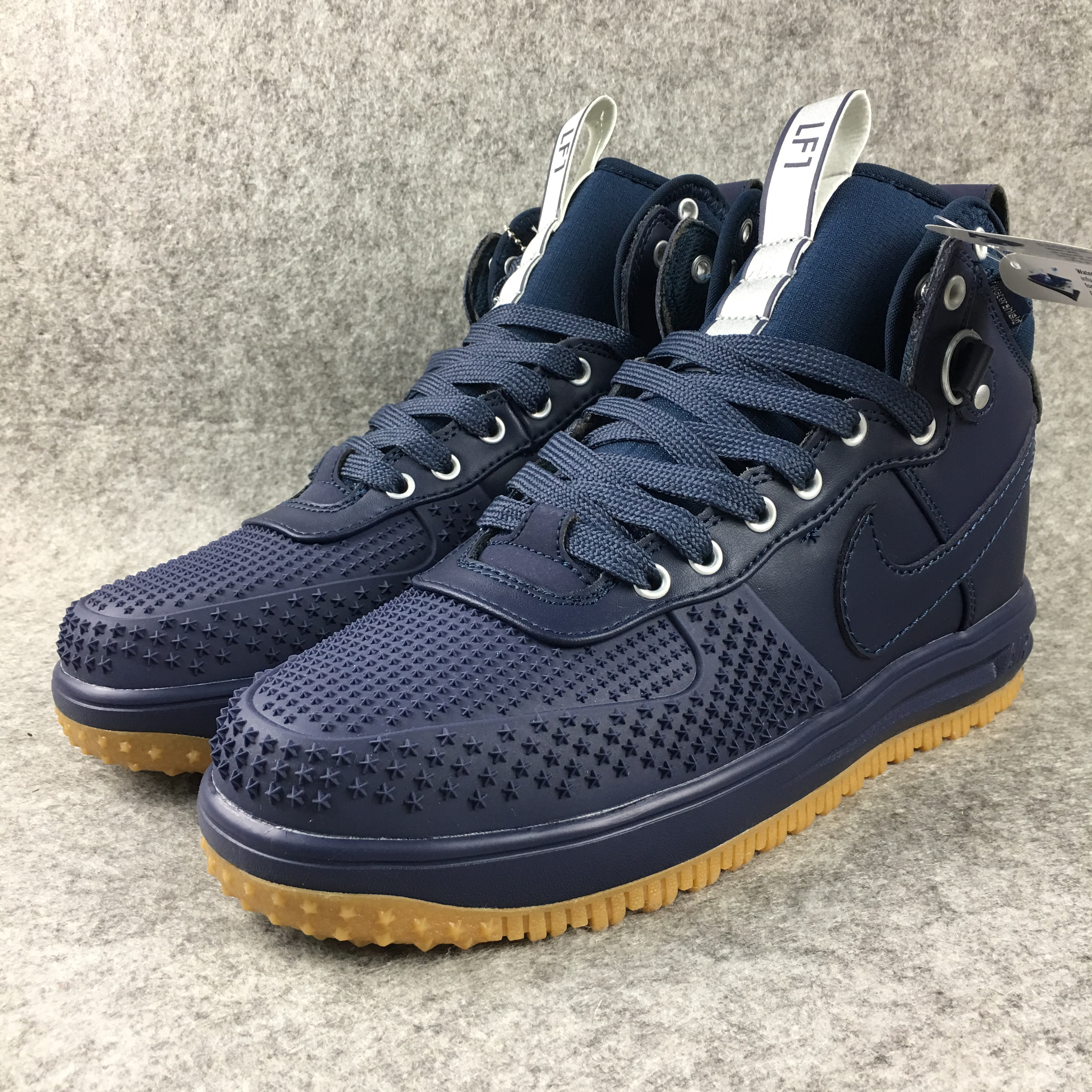 New Nike Lunar Force 1 High Deep Blue Gum Sole