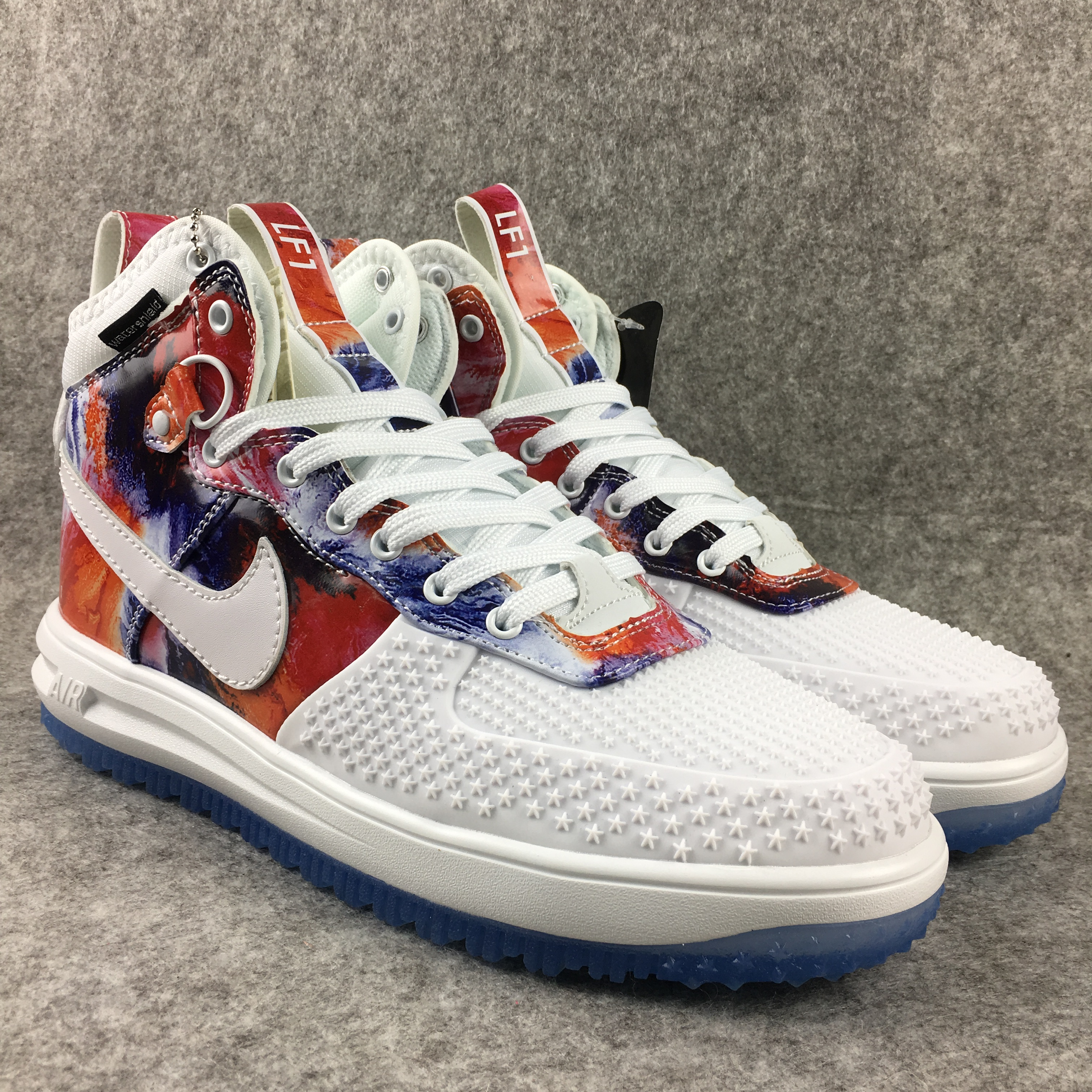 New Nike Lunar Force 1 High White Colorful