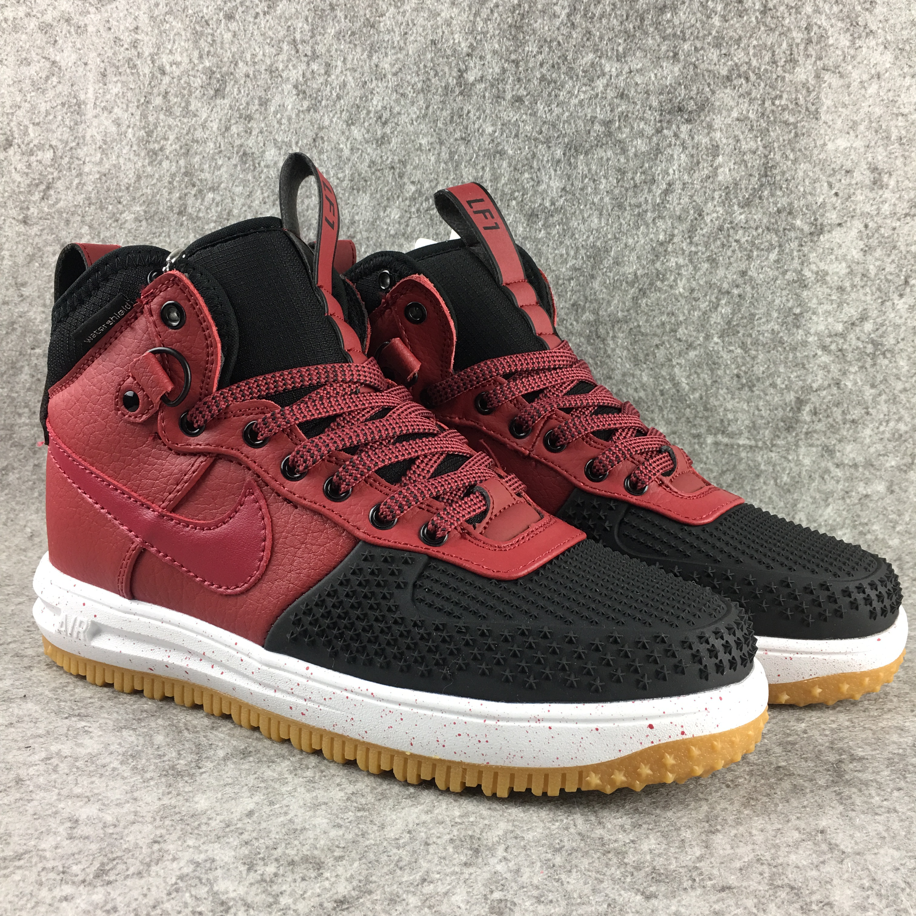 New Nike Lunar Force 1 High Wine Red Black