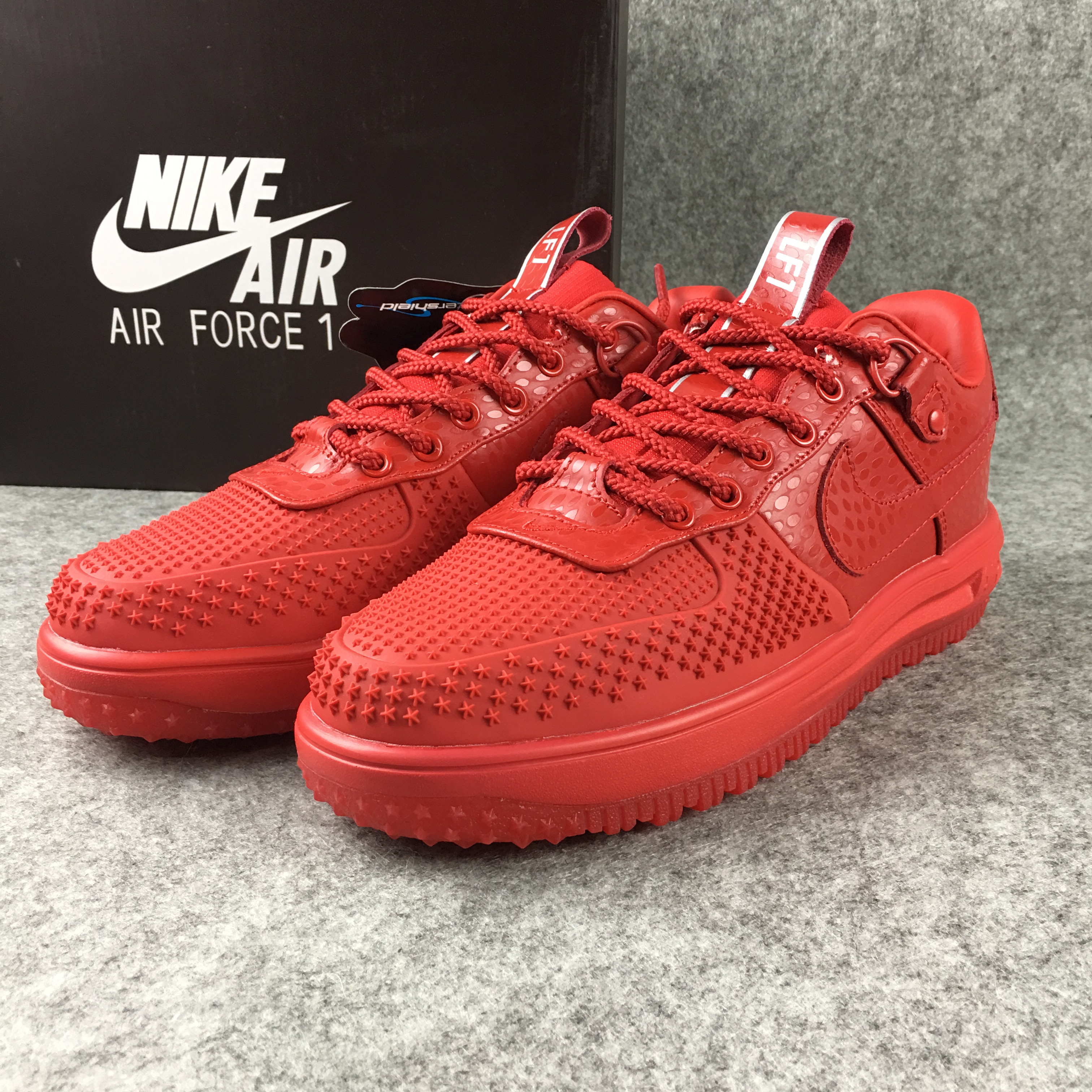 New Nike Lunar Force 1 Low All Red