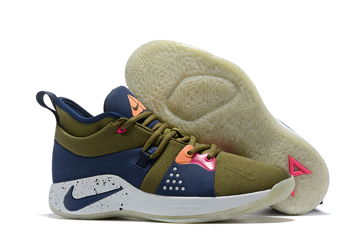 New Nike PG 2 ACG Green Blue Red