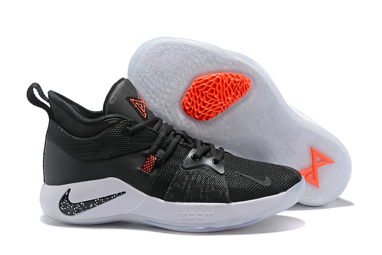New Nike PG 2 Black Red White Shoes