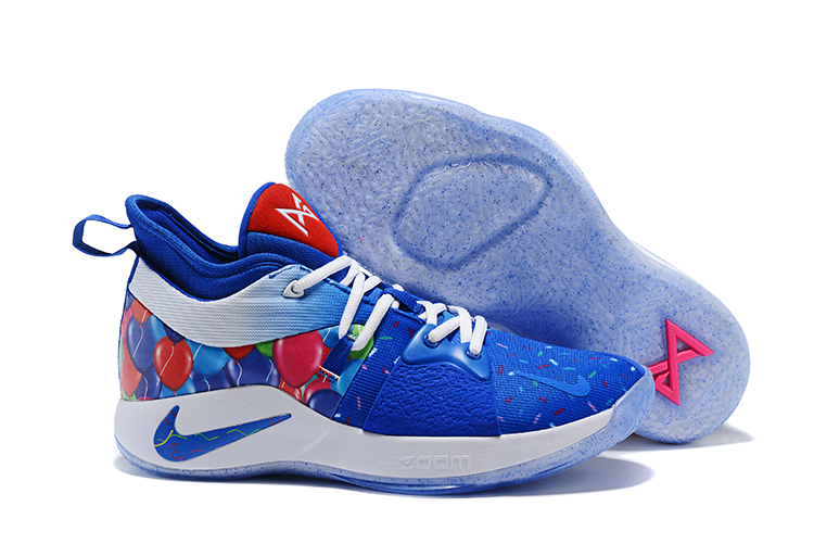 New Nike PG 2 Blue Red White Shoes