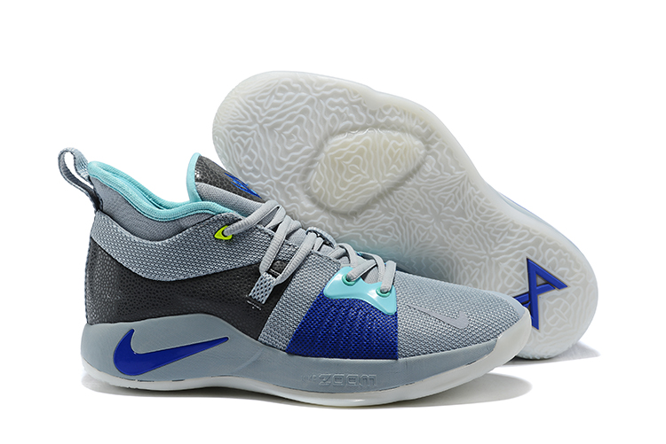 New Nike PG 2 Grey Blue Black Shoes