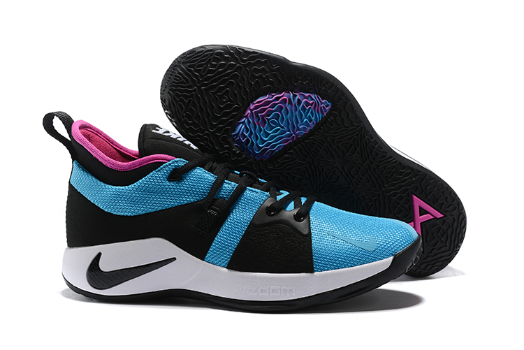 New Nike PG 2 Laker Blue Black Pink