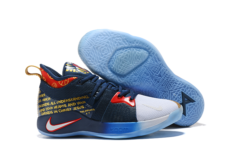 New Nike PG 2 Pelicans Blue Gold Red