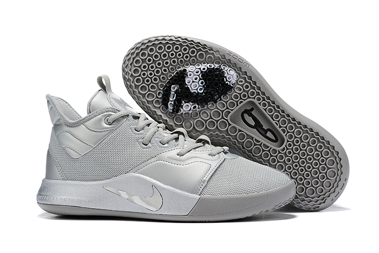 New Nike PG 3 Grey Silver Shoes