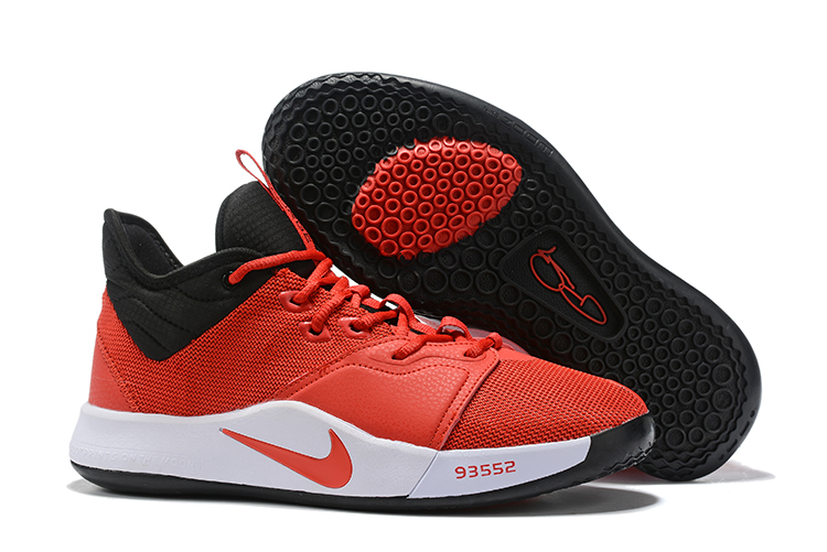New Nike PG 3 Red Black White Shoes