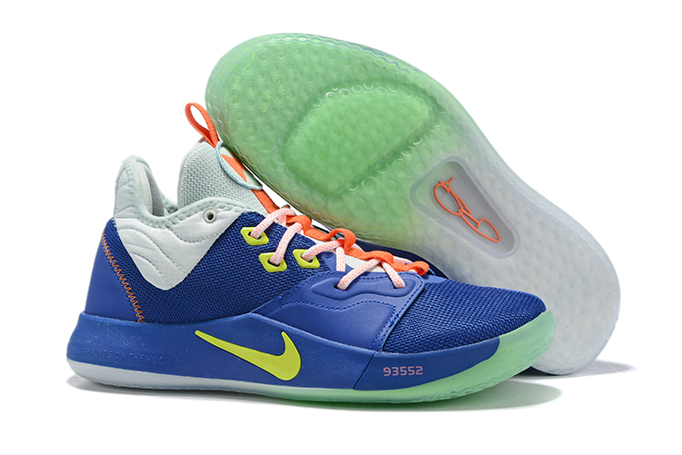 New Nike PG 3 Sea Blue Green White Shoes