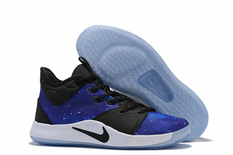 New Nike PG 3 Sky Blue Black White Shoes