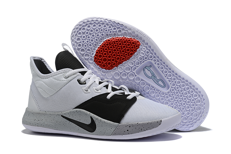New Nike PG 3 White Black Grey Shoes