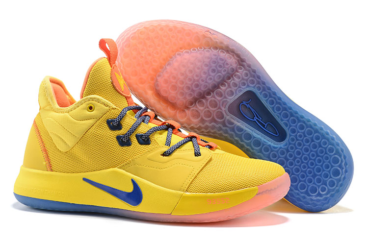 New Nike PG 3 Yellow Blue Pink Shoes