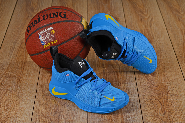 New Nike PG II Blue Yellow Shoes