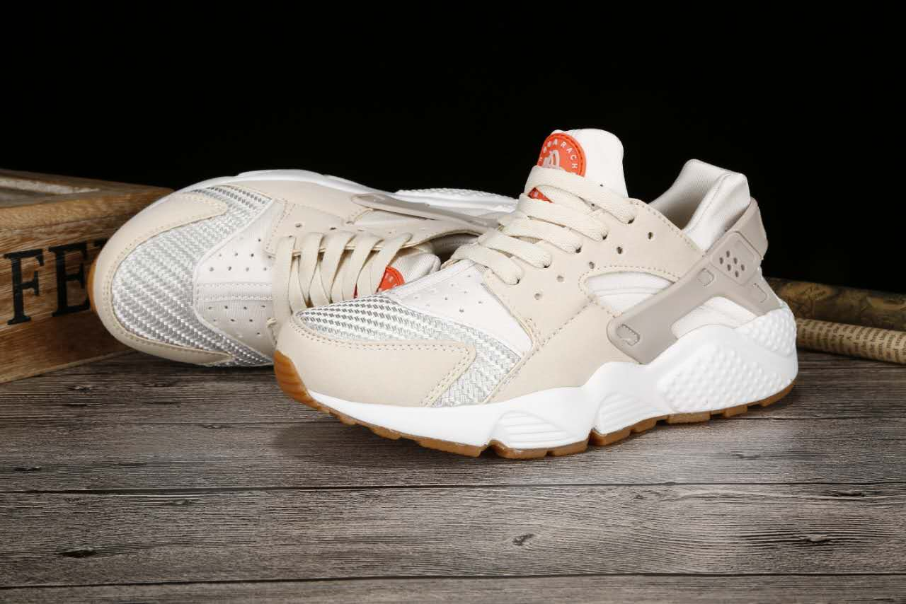New Women Nike Air Huarache 1 Light Pink White Shoes