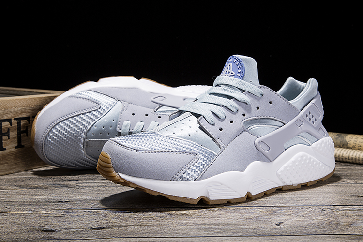 New Women Nike Air Huarache 1 Silver Grey Shoes