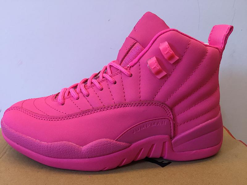buy online c6f0d f2352 2016 Nike Air Jordan 12 GS All Pink