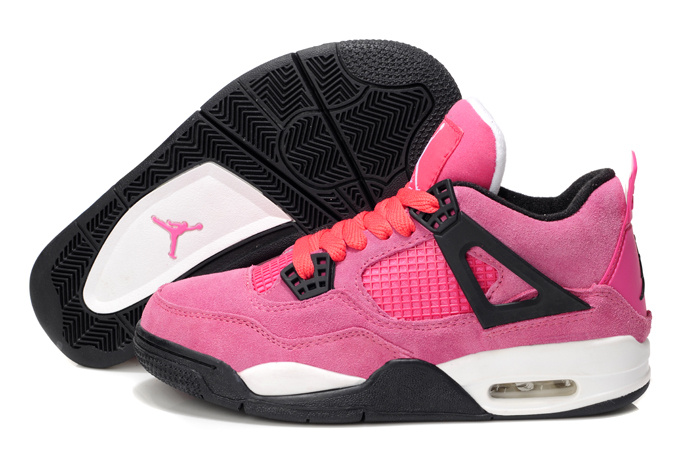 new products adbde b0d45 Nike Air Jordan 4 Retro Womens Basketball Shoes Pink White