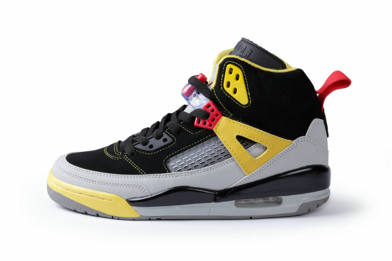 online store 7da0b 989fb Nike Air Jordan Spizike Black Grey Yellow Shoes