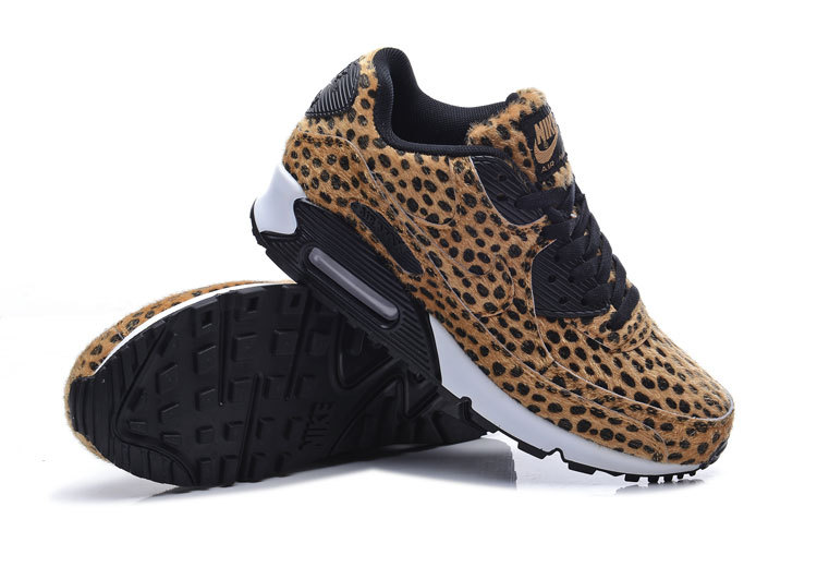 New Cheetah Print Air Max 90 Brown Black Shoes