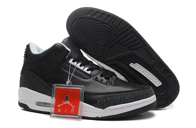 New Nike Jordan 3 Retro Basketball Shoes Black Cement White