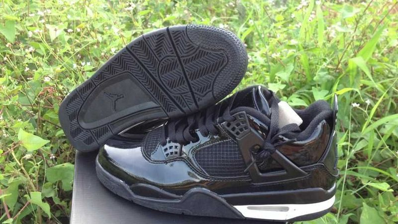 New Jordan 4 Retro All Black Shoes