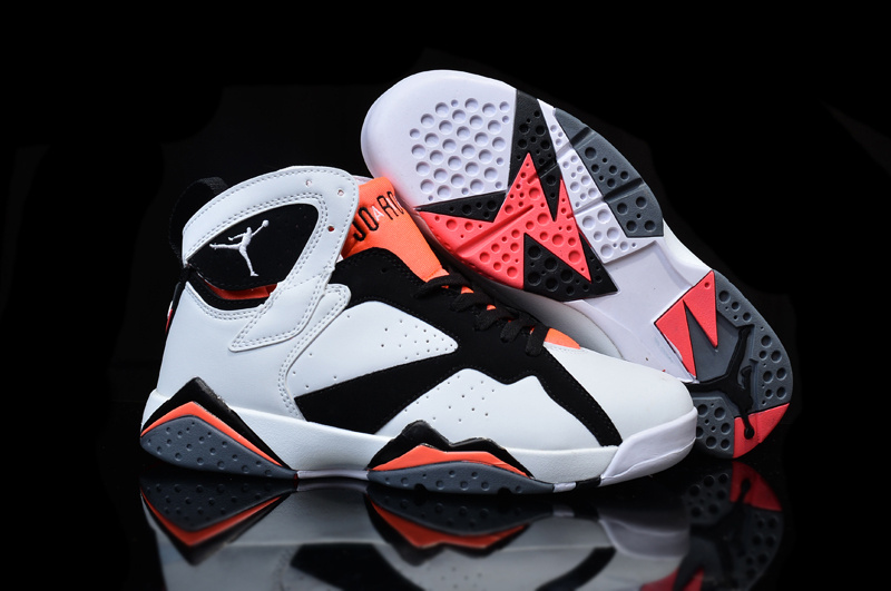 New Nike Air Jordan 7 White Black Pink Shoes For Women