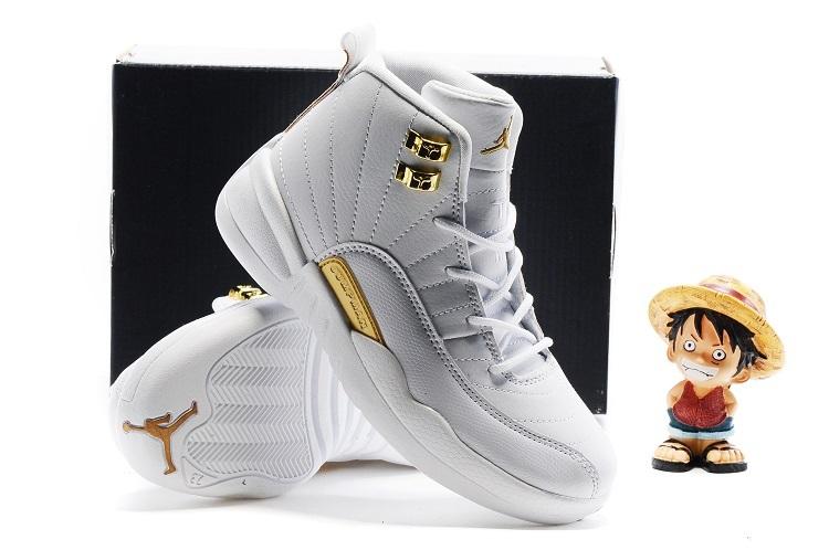 New Kids Air Jordan 12 OVO White Gold Shoes  NKOBE2680  -  72.00 ... 73acd6b05437