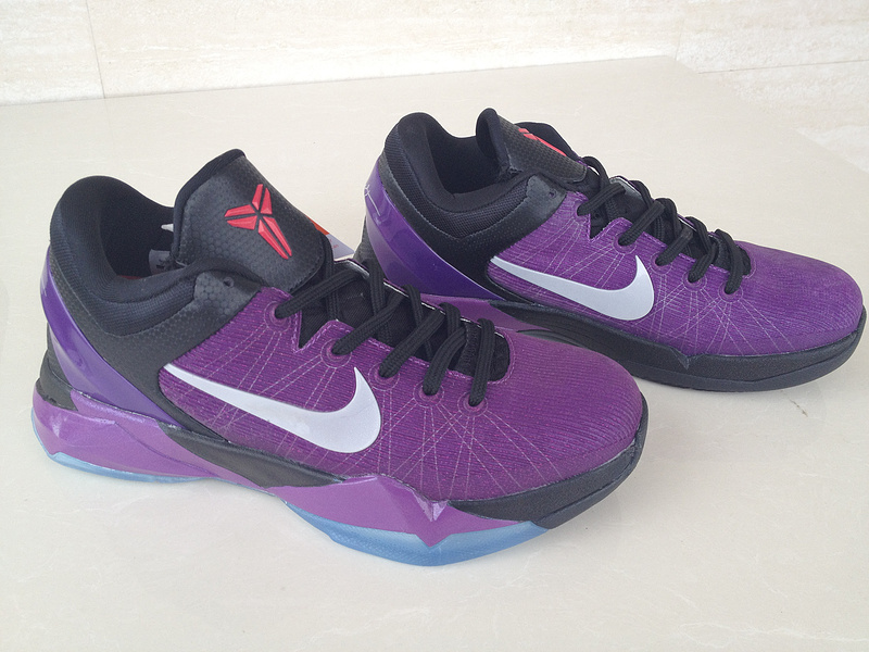 New Kobe Bryant Shoes 7 Purple Black White