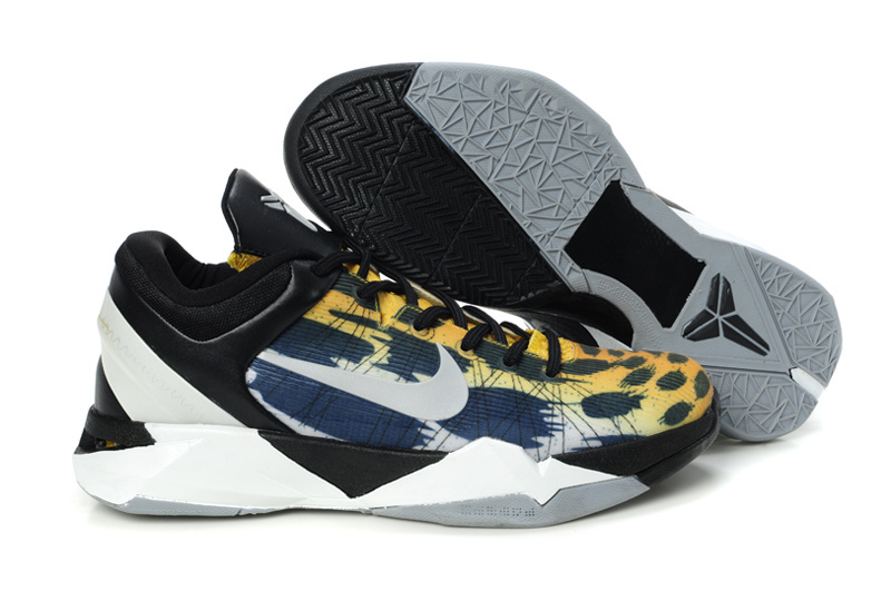 New Kobe Bryant Shoes 7 Tiger Print Black White