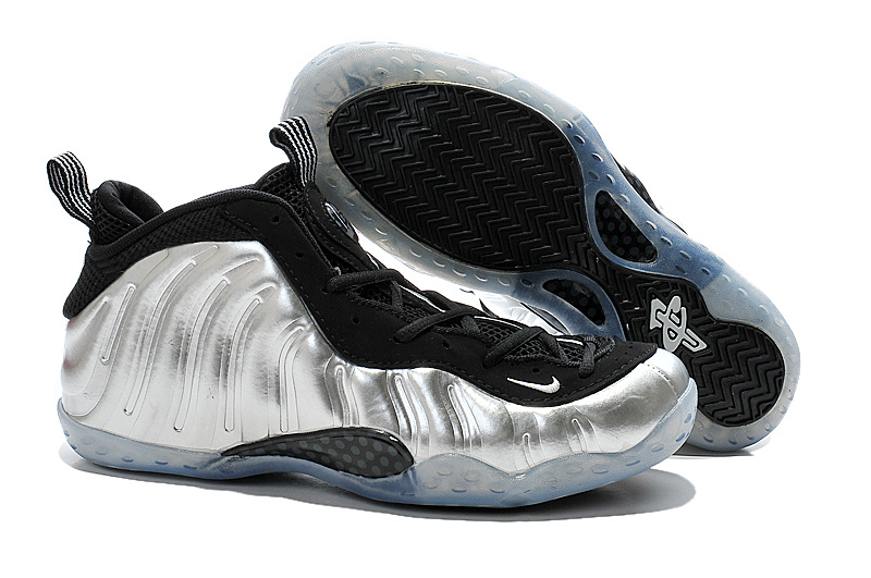 New Nike Air Foam Penny Hardaway Silver Black Shoes