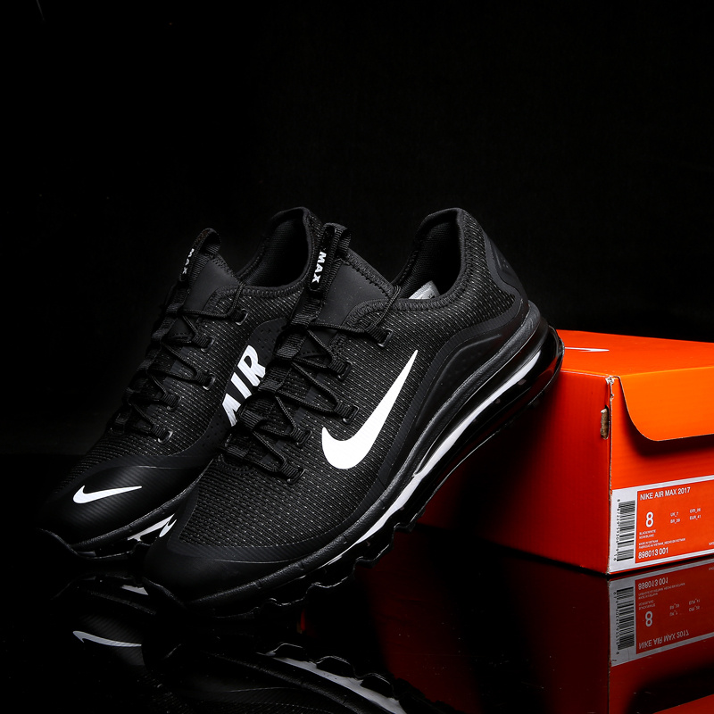 New Nike Air Max 2017 2 All Black White Shoes