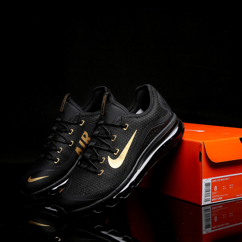 New Nike Air Max 2017 2 Black Gold White Shoes