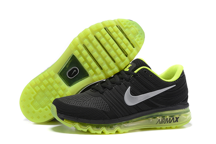 New Nike Air Max 2017 Black Fluorscent Green Shoes