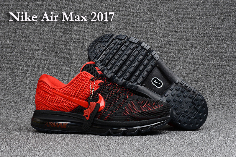 New Nike Air Max 2017 Black Red Shoes