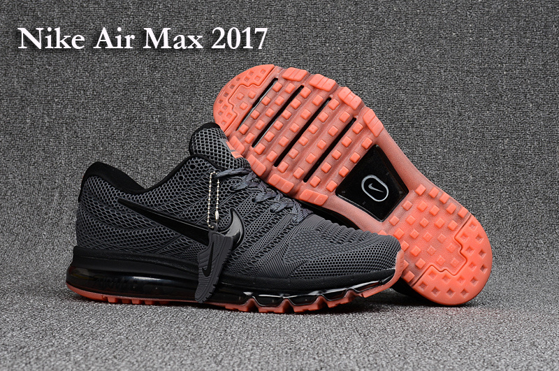 New Nike Air Max 2017 Carbon Grey Orange Shoes