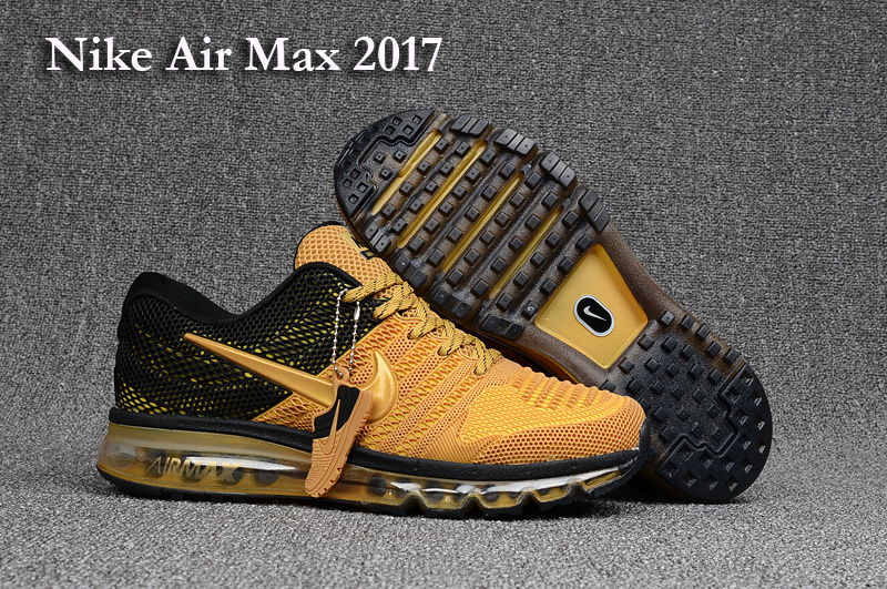 New Nike Air Max 2017 Yellow Black Shoes