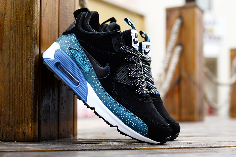Nike Air Max 90 High Black Blue White