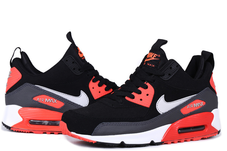 Nike Air Max 90 High Black Reddish Orange White
