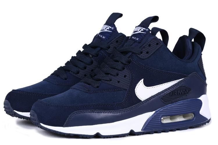 Nike Air Max 90 High Deep Blue White [NKOBE3312] - $73.00 ...