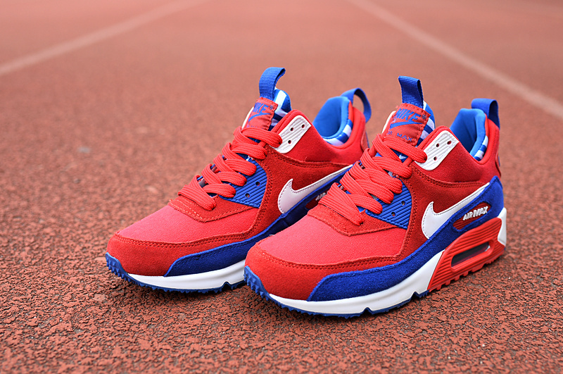 Nike Air Max 90 High Red Blue White