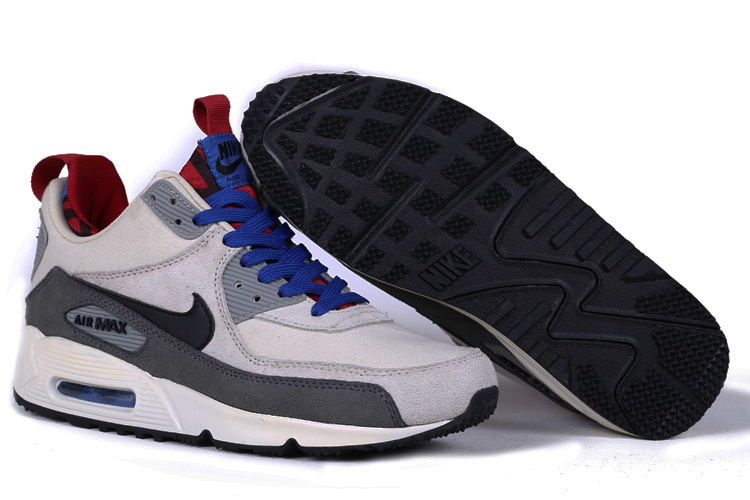 Nike Air Max 90 High White Grey Black Blue