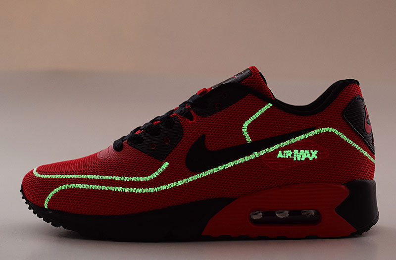 2016 Nike Air Max 90 Midnight Firefly Red Black