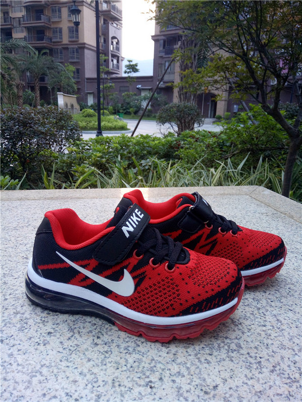 New Nike Air Max Red Black White Shoes For Kids