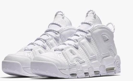 New Nike Air Uptempo All White Shoes