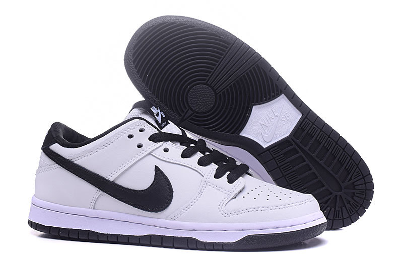 New Nike Dunk Low White Black Shoes