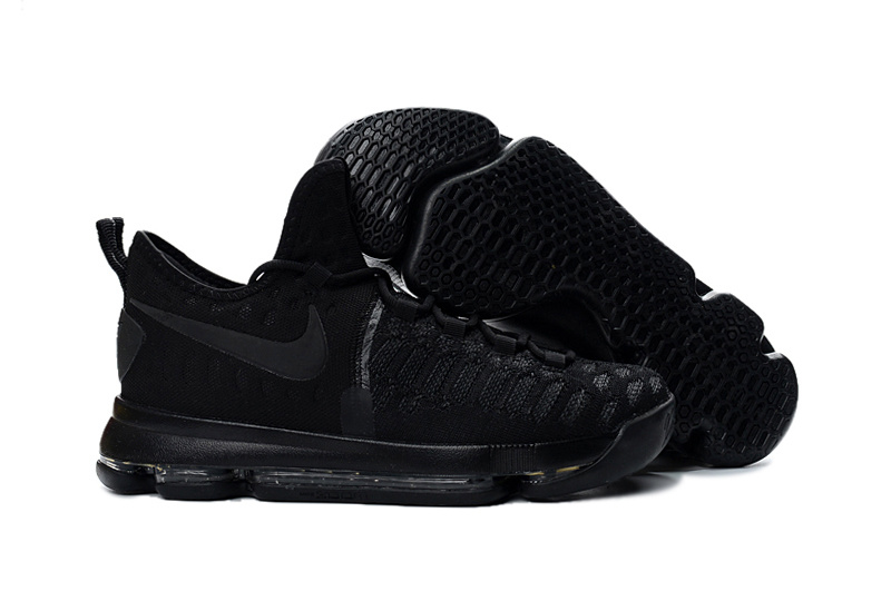 New Nike Kevin Durant 9 All Black Worriors Shoes