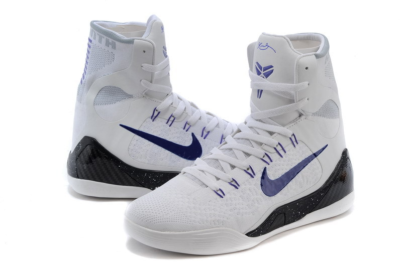 finest selection 95d4c 82cfa ... New Nike Kobe Bryant 9 High White Blue Black Shoes ...
