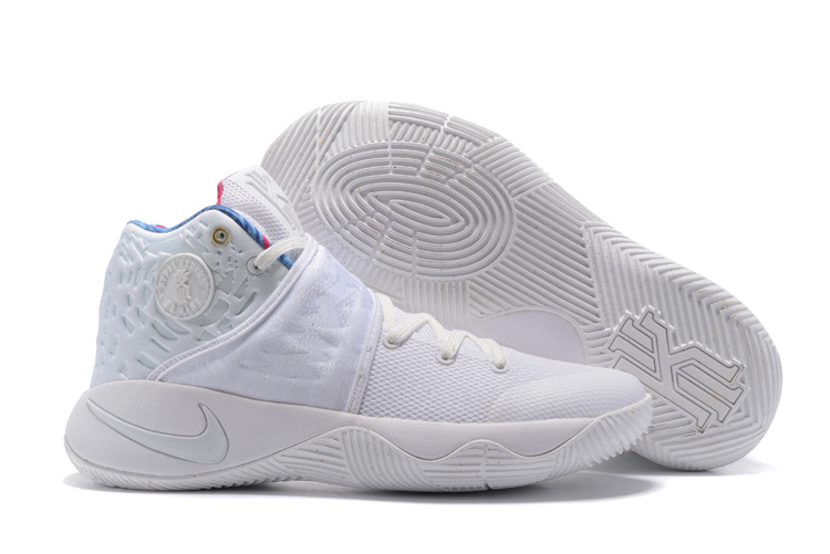 New Nike Kyrie 2 All White Shoes