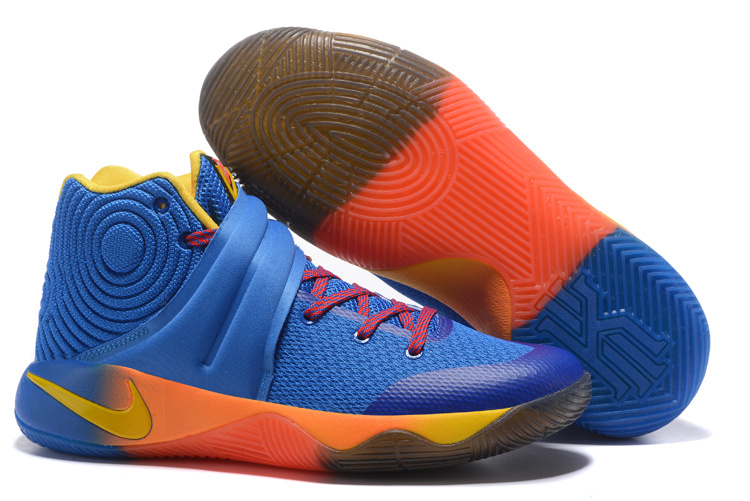 New Nike Kyrie 2 Blue Red Yellow Shoes