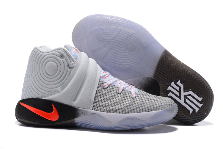 New Nike Kyrie 2 Grey Black Orange Shoes
